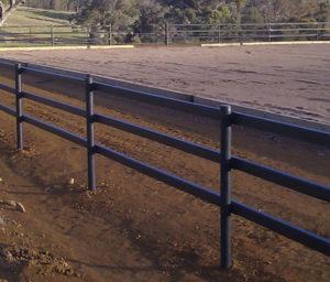 3 rail Zappa rail with Woodshield posts